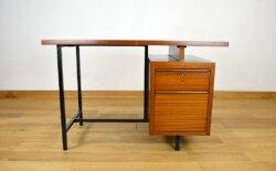 Bureau Vintage en Acajou et Métal 1960