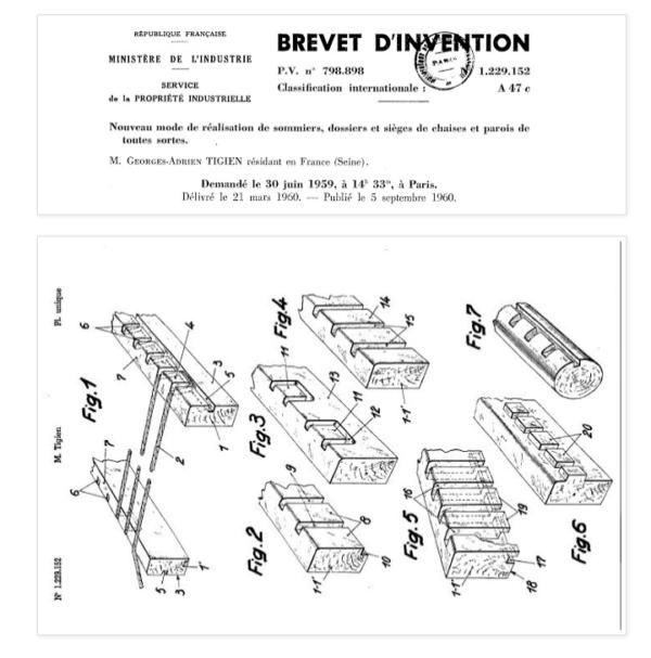 brevet d'invention chaise