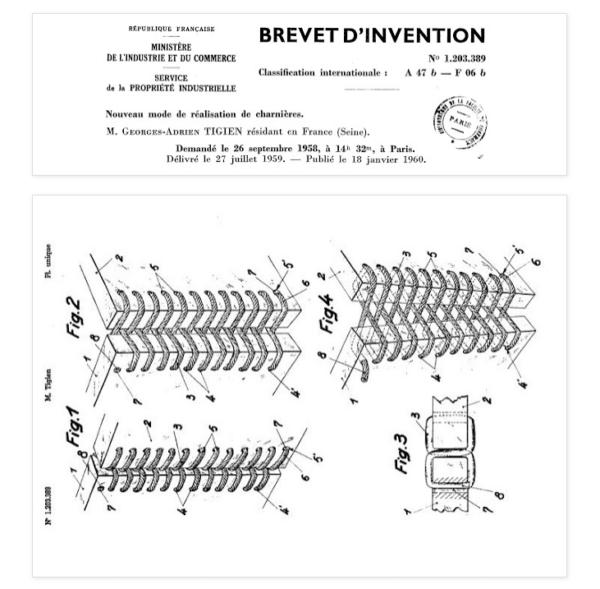 brevet d'invention Georges Adrien Tigien