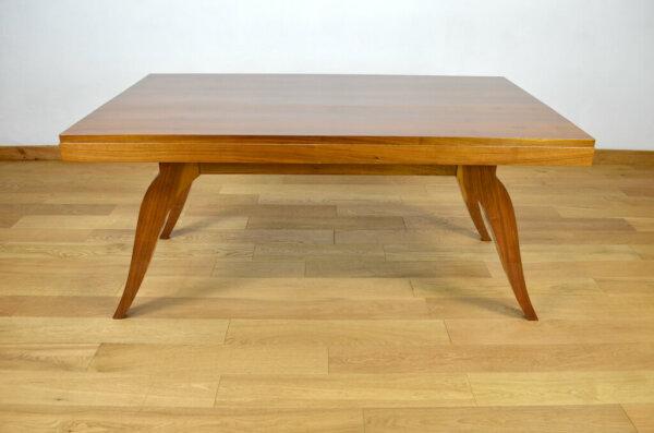 Table Art Déco en Noyer Circa 1940