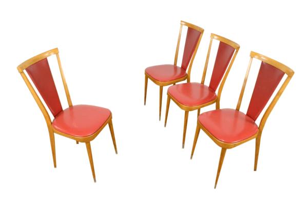 4 Chaises Bistrot Vintage Année 60
