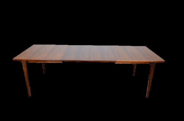 Grande Table Danoise en Palissandre de Rio Henry Rosengren Hansen 1960