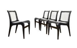 Originales Chaises de Georges Tigien Vintage 1960