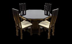 Table & 4 Chaises Vintage Eric Maville 1970