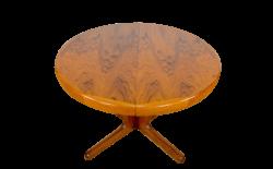 Table Ronde Design Scandinave & Pied Central Vintage 1960