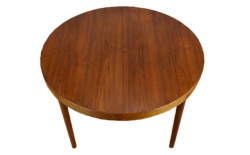 Table Ronde Design Scandinave en Teck Harry Ostergaard Vintage 1962