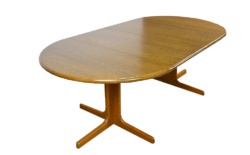 Table Vintage Ronde / Ovale Pied Central 1960
