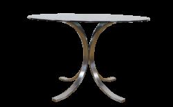 Table en Acier Brossé & Inox Édition Roche Bobois Vintage 1970