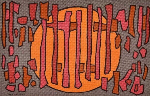 Tapisserie Murale d'Yves Cuvelier Vintage 1960