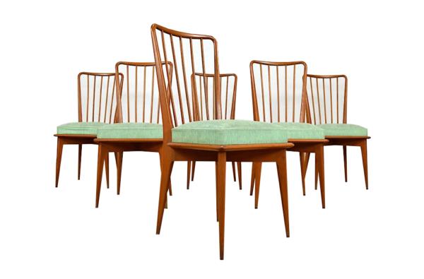 6 Chaises Vintage de Charles Ramos Édition Castellaneta 1960