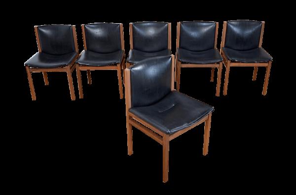 6 Chaises en Palissandre de Rio Tito Agnoli Vintage 1960