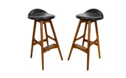 Tabourets de Bar Danois par Erik Buck Vintage 1960