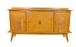 Bahut enfilade Vintage en Chêne Pieds Compas Années 50
