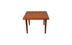 Table Basse Carrée Design Scandinave en Teck Vintage 1960