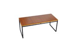 Table Basse Moderniste en Teck & Métal Vintage 1950
