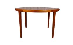 Table Ronde Design Scandinave en Teck V.V.Mobler Vintage 1960