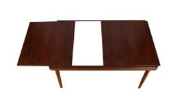 Table Scandinave en Palissandre de Rio Vintage 1960